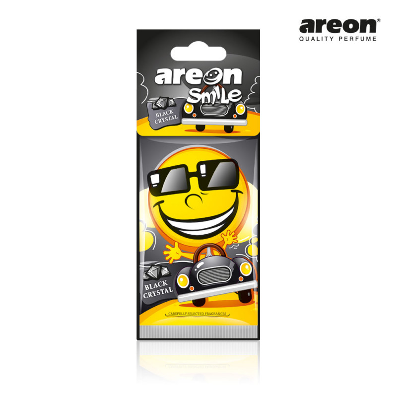 AREON SMILE SECO BLACK CRYSTAL CRISTAL PRETO